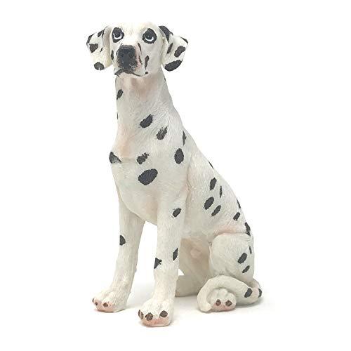 Dog Figurine Dalmatian (Farship Lifestyle Dalmatian Dobermann Resin Dog Figurines Ornaments, Deluxe Canine Decorations Gifts, Home & Garden (Sitting Dalmatian Dog))