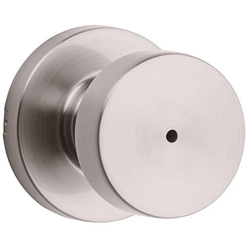 Kwikset 97300-933 Pismo Bedroom/Bathroom Door Knob, Satin Nickel (Contemporary Knobs Door)