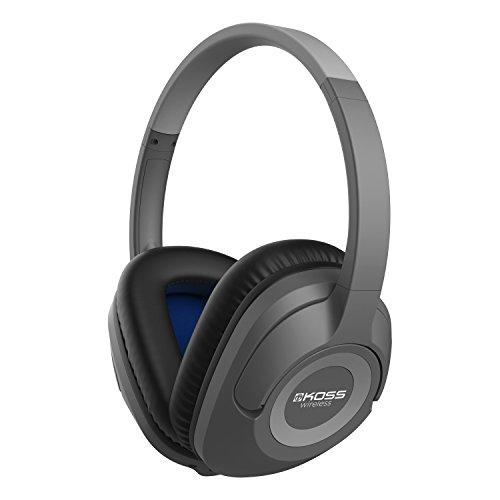 Koss BT539iK Wireless Bluetooth Over-Ear Headphones with Microphone and Volume Control - Dark Grey Koss Microphone