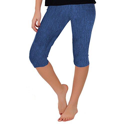 Girls Denim Capri Pants (Stretch is Comfort Girl's CAPRI Leggings Denim X-Large)