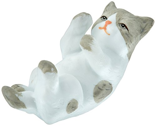 Cat Wedding Figurine / Cake Topper - Gray and White ()