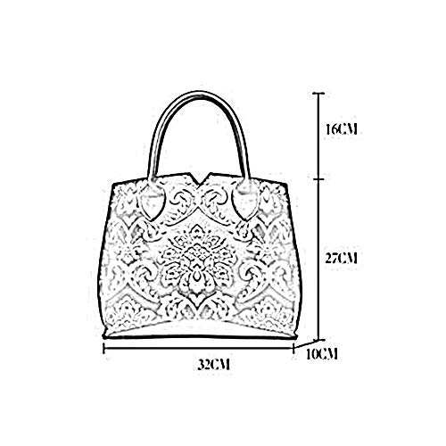 231 à Sac ANLEI 019 32 Bag 27 Black Messenger Couleurs Chinois 5 Femmes 10 CM Main Sac Style à PU bandoulière xPSSAI