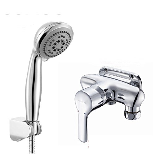 - Bathroom copper wall mounted exposed pipe taps/Wall mounted hot and cold faucet/Shower mixing valve-B
