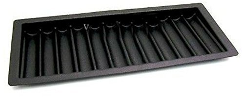 Thick ABS Black Poker / Blackjack Chip Tray (9 Row / 450 Chip) - Item 95-0350 by Unbranded*