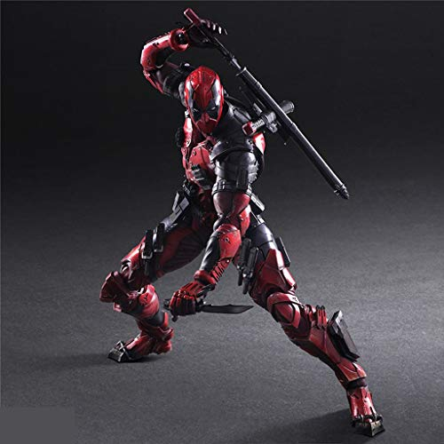 QYSZYG Marvel Dead Criado Deadpool Modelo móvil Estatua Anime Ornamento 24cm