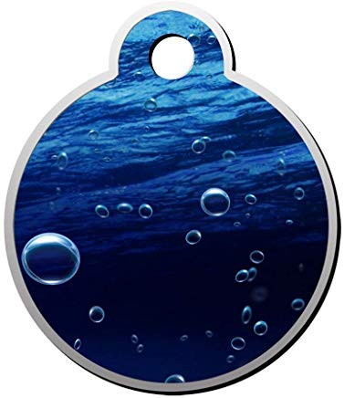 - Fantasy Bubbles Sea Personalized Pet Id Tag for Dog and Cats,Cute Round Dog ID Tag,Pet Identification Tag,Gifts for Pet Lovers