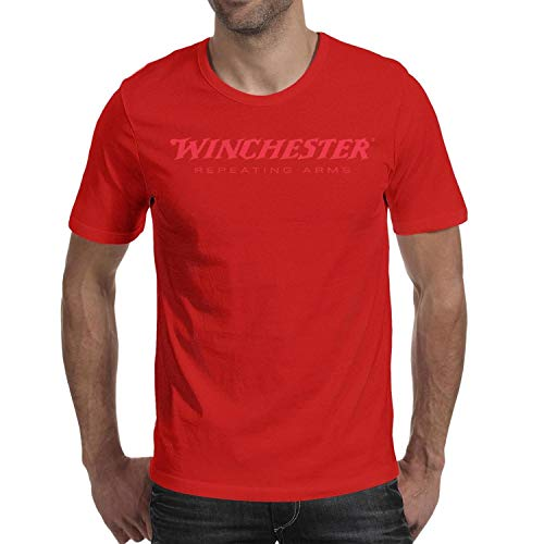 Winchester Repeating Arms Logo Short Sleeve T Shirts Crew Neck Casual Comfortable T-Shirt Men ()
