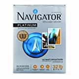 Navigatoramp;reg; Platinum Office Paper, 99 Brightness, 32lb, Letter, White, 2,000 Sheets
