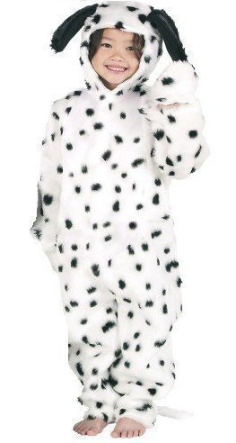 Boys Girls Kids Deluxe Furry Dalmatian Dalmation Dog Animal Book Day Fancy Dress Costume Outfit 3-12 Years (6-8 Years 128cms) -