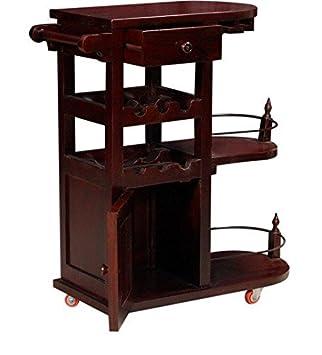 Ringabell Altavista Nectar Solid Wood Bar Cabinet (Mahogany Finish)