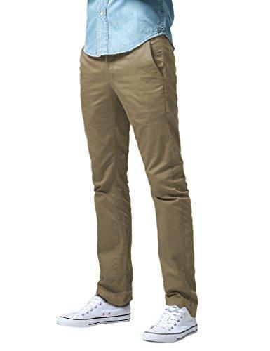 Khaki Slim Uomo Match Pantaloni Khaki Casual 8036 8036 Scuro dark UTxqnaz