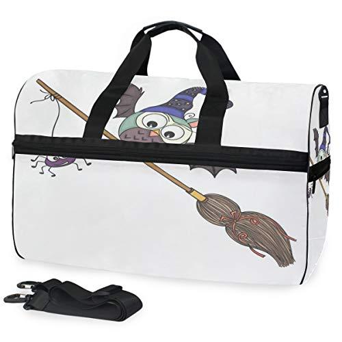 Duffle Bag Halloween With Broom Gym Bag with