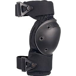 ALTA 52913.00 AltaCONTOUR Knee Protector Pad, Black Cordura Nylon Fabric, AltaLOK Fastening, Flexible Cap, Round, Black (One Pair)