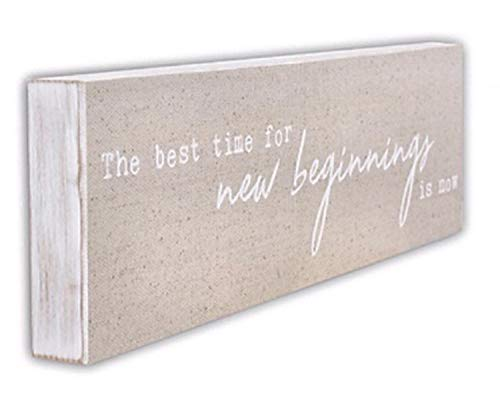 ReLive Decorative Expressions - New Beginnings 20x6 Painted Wooden Box Sign