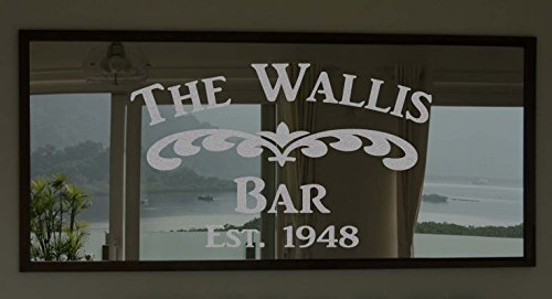 Custom Family Bar Frosted Etched Glass Vinyl Wall Quote Sticker Decal (Mirror not Included)
