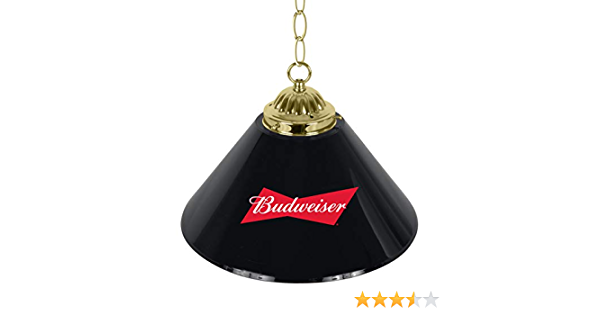 Budweiser 14 Inch Single Shade Bar Lamp Bow Tie