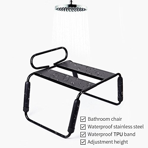 Stainless Steel Multifunction Waterproof Sex Chair,Bathrooms Adult Love Sex Furniture for Couple (Black) by Zooma