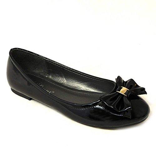 SKO'S donna Black t11 Patent 15 Ballerine wFEq5rw