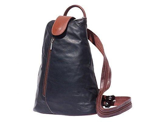 marron Leather À En Market Dos Sac Èpaule Transformable Florence 2009 Noir vqx7wnfW7
