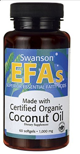 Swanson Certified Organic Coconut Oil 1,000 1000 Mg - 60 Softgels ()