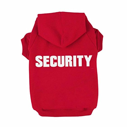 Puppy Dog Cat Pets Appareal Security Sweatshirt Hoodie Clothes Hood Coat Sweater For Winter Warm Small Medium Large Pets (M, Red)