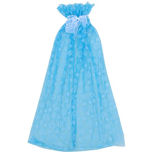 Blue Ice Princess Costume (So Sydney Ice Queen Long Snowflake Cape or Cloak, Halloween Costume Accessory (Turquoise Blue))