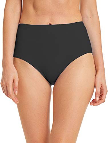 Micosuza Women's Swim Bottom High Waist Retro Basic Full Coverage Bikini Tankini Swimsuit Briefs