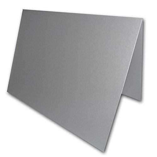 Blank Metallic Place Cards Heavyweight Tent Cards | Size 3.5
