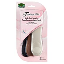 Moneysworth and Best High Heel Insoles with Soft Foam Shoe Insert, Pack of 3 Pairs