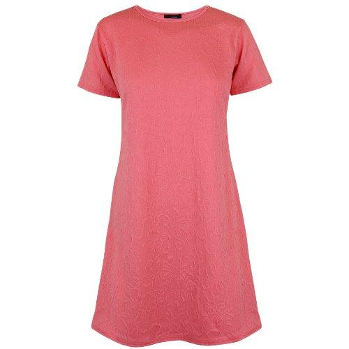 Para vestidos de Oromiss para mujer Mini de baño de mujer bolsita liso circuito de Swing para Manualidades para vestido de destornilladores para túnicas de manga corta Coral