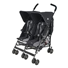 Maclaren Twin Triumph Stroller, Black/Charcoal, 1 Pack