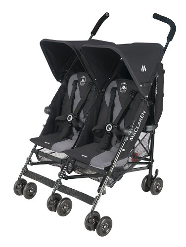 Amazon.com: Maclaren Twin Triumph Stroller, Black/Charcoal ...