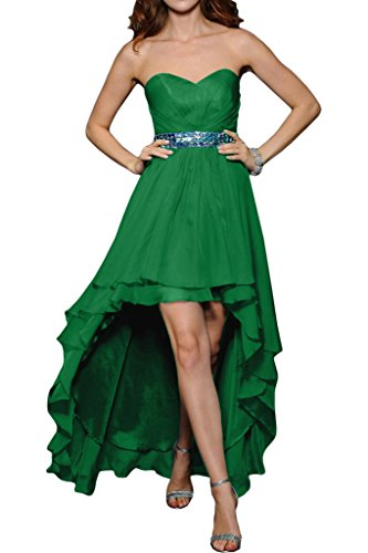 ivyd vestito Verde pietre da Lo donna abito Fashion a di abito sera Party ressing Hi Prom cintura Festa cuore forma rURHrc1Wqf