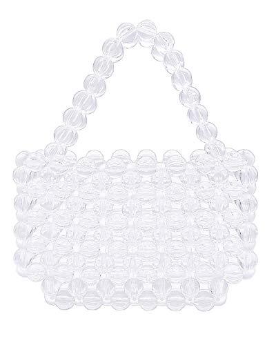 Miuco Women Beaded Bag Handmade Transparent Acrylic Handbags