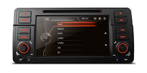 (MCWAUTO for BMW 3 Series E46/ 320/325 (1998-2006) Rover 75 (1999-2005) MG ZT (1999-2006) 7 Inch 1 Din in Dash GPS Navigation Car Stereo DVD Player GPS Stereo Capacitive Touch Screen)