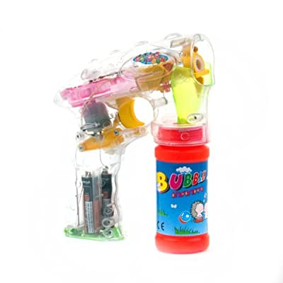 Flashing Panda LED Flashing Bubble Gun with Bubble Solution: Toys & Games