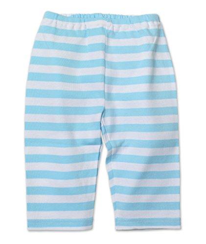 Zutano Unisex-Baby Newborn Pastel Stripe Pant, Blue, 3 Months