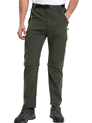 Mens Hiking Pants Adventure Quick Dry Convertible Lightweight Zip Off Fishing Mountain Hunting Trousers #9999