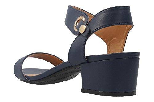 Andres Machado Damen Sandaletten - Blau Schuhe in Übergrößen