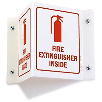 Amazon.com: Extintor en el interior (con gráfico) cartel, 5 ...