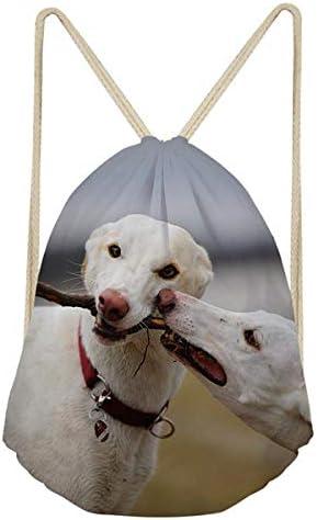 NLIFEB 3D Tierhund Windhund drucken Freizeitstrahl Mund Rucksack Herren Fitness Tasche Aufbewahrungstasche Schultasche