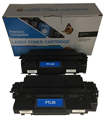 2 Compatible Black Cannon PC-1060 L50 Printer Copy Ink Toner Cartridge Replacement for Canon L5O PC1060 Personal Digital Copier Machine 6812A001AA