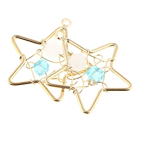 2 Pcs Heart Charms Pendant Star Jewelry Making Charms DIY Jewelry Findings Necklace Jewelry Crafting Key Chain Bracelet Pendants Accessories Best| Style - Star