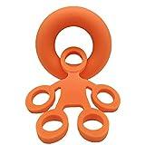 Togethluer Hand Finger Grip,Strengthener Exercise Rings Extensor Resistance Stress Relief Orange