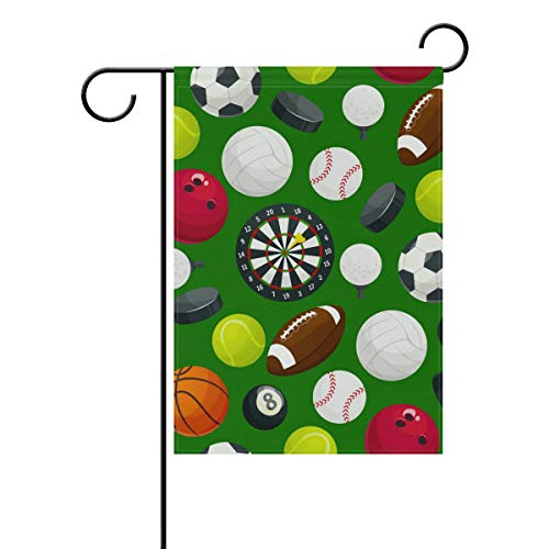 KGuanJi Garden Flags Sport Ball Green 12x18 - Double Sided Outdoor Holidays Yard Banner Polyester]()