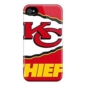 Iphone 4/4s EMw3847Pjgg Customized High Resolution Kansas City Chiefs Series Shockproof Cell-phone Hard Cover -AlissaDubois