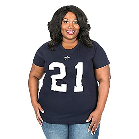 5f140aa2 Dallas Cowboys Ezekiel Elliott Women's Plus Size Name & Number T-Shirt -  Navy 1X
