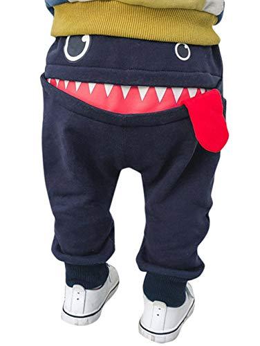 EGELEXY Toddler Boys Girls Cartoon Monster Thick Pants Cute Shark Sweatpants Cotton Harem Trousers Size 6-12 Months/Tag80 (Blue)]()