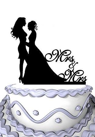 Amazoncom Meijiafei Lesbian Wedding Bride and Bride Silhouette