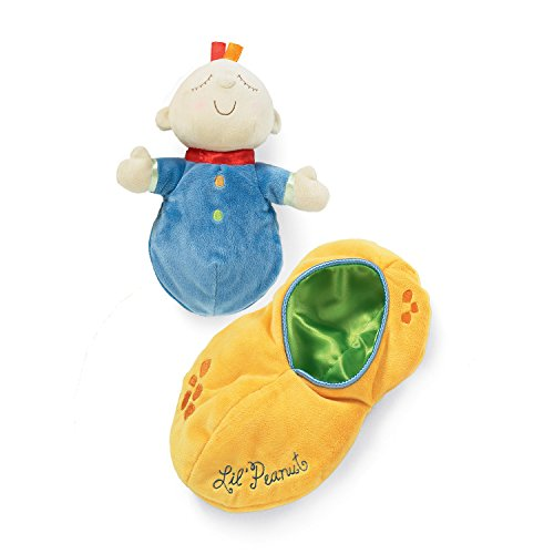 41ZLnxdK61L - Manhattan Toy Snuggle Pod Lil' Peanut First Baby Doll with Cozy Sleep Sack for Ages 6 Months and Up